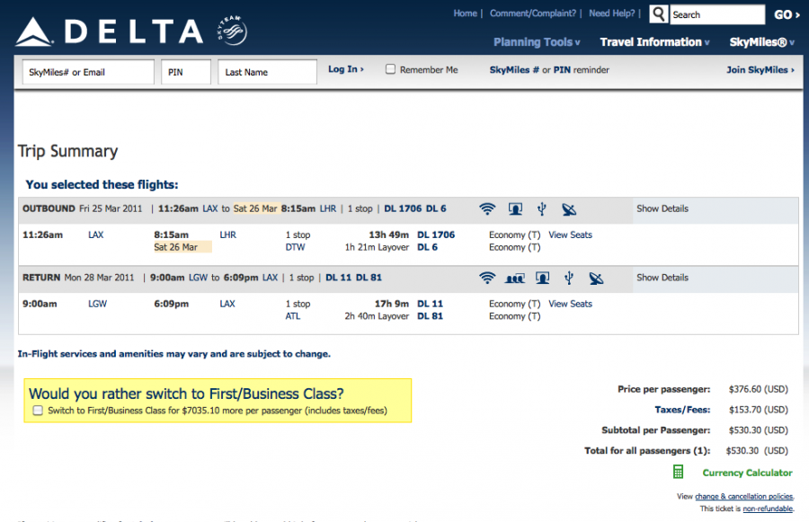 Cheap Delta Flights to London: $349 TOTAL from NYC, $530 from LAX ...
