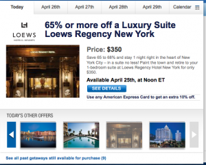 Cheap Loews Hotel Suite Nights on Sale Today at Noon