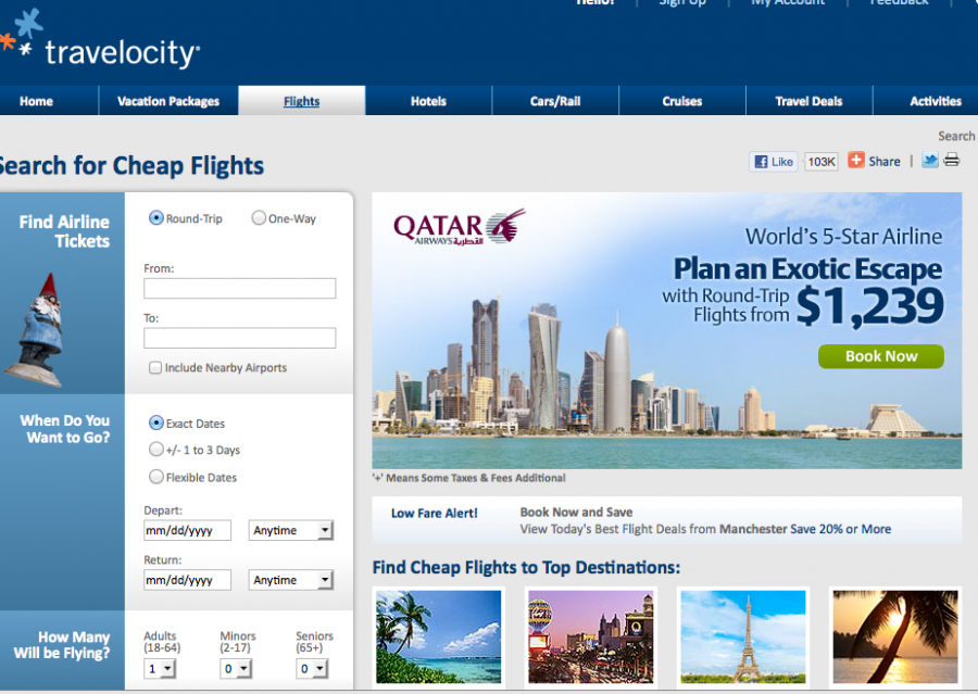 Travelocity.com flex search - buggy at times, but good deals can be ...