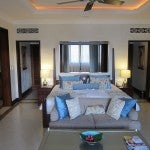 The king-size bed in my Ocean View Terrace Suite