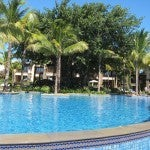 One of the resort's pools.