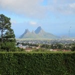 A view along the rugged southern coast of Mauritius.