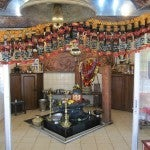 One of the ornate altars at Grand Bassin.