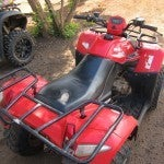 My trusty ride at the Casera Nature and Leisure Park for a bit of four-wheeling.