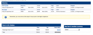 $1,040 Total Business Class Roundtrip Fares NY to Ecuador on Lan