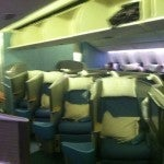 A shot of the old business class cabin, suddenly those herringbone seats are looking a little narrow and crowded.