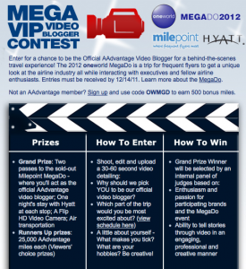 Another Chance to Win a Spot on the Oneworld Mega Do
