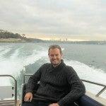Enjoying a relaxing moment speeding along the Bosphorus.