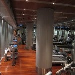 The hotel's small gym is packed with the latest high-tech equipment plus more low-fi options like dumbbells and weights.