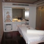 One of the hotel spa's two day treatment rooms. The spa also has 5 suites equipped with hammams.