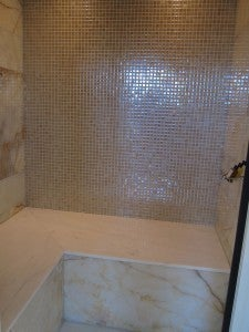 The individual marble steam room in my Spa Room, great for unwinding after a long trip.