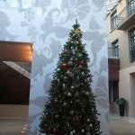 How inclusive--the hotel had a lovely Christmas tree for us foreign travelers.