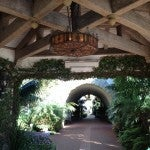 A walkway to the lobby at the Four Seaons. I loved the historic Spanish colonial feel.