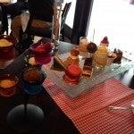 The Four Seasons brunch dessert table.