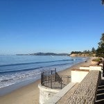 A view of Butterfly Beach in front of the Four Seasons Santa Barbara.
