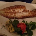 Dad got the juicy whole-grilled snapper for dinner at Park Fora.