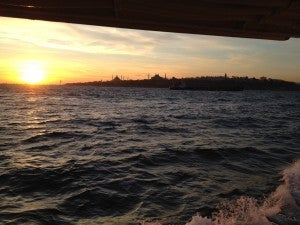 A sunset ferry ride across the Bosphorus to the Asian side of the city.