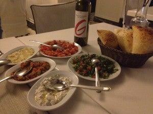 Dinner at the Kosebasi kebab restaurant across from the Park Hyatt--lots of delicious mezzes!