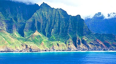 The dramatic cliffs of the Na Pa Li Coast.