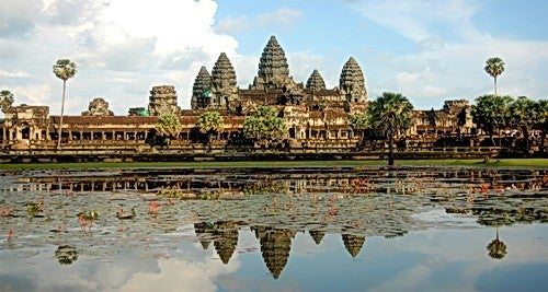 Cambodia's most famous tourist sight: Angkor Wat.