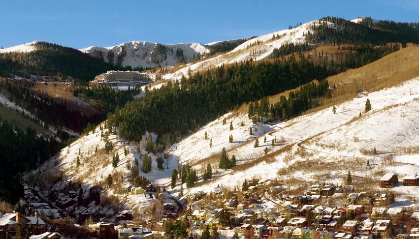 Park City, Utah after a light snow.