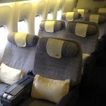 Air China's Business Class cabin.