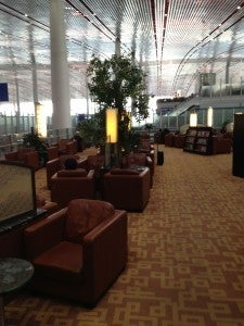The open-air Air China lounge in Beijing.