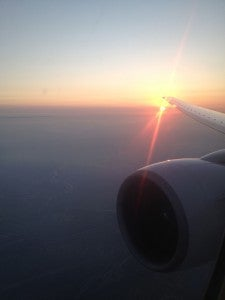 A view over the wing.