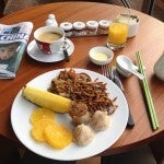 My free Hyatt Diamond breakfast--trying to keep it light and healthy.