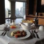 andaz sha room svc breakfast w a view