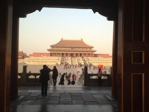 A view of the main edifice of the Forbidden City, where the emperors of China lived for 5 centuries.