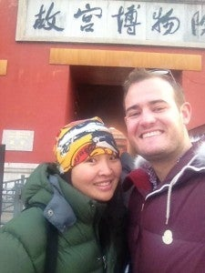 My guide, Jenny, and me outside the Forbidden City. She was such a sweetheart, I loved her!
