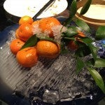 Some fresh clementines on ice, just right to cleanse the palate.