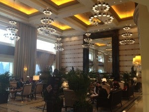 The St. Regis Beijing's lobby bar.