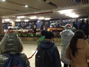 Getting through customs in Beijing was a breeze--it took mere minutes since they didn't ask any questions and there was no line so late at night.
