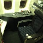 My Flagship First Class seat...nice and roomy, just the way TPG likes it.