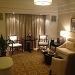The living room of my Club Deluxe Suite.