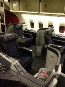 American Airline's Flagship First Class cabin with 16 seats.