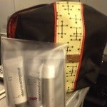 The business class amenity kit--at last they've switched to Dermalogica, much better than Burt's Bees!
