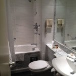 The bathroom in my room at the Sheraton.