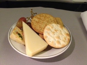 The cheese plate--presentation is not AA's strong suit.