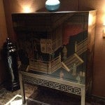 The cool Chinese cabinet and urn in my entry foyer.