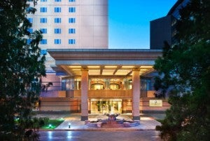 The entrance to the St. Regis Beijing.