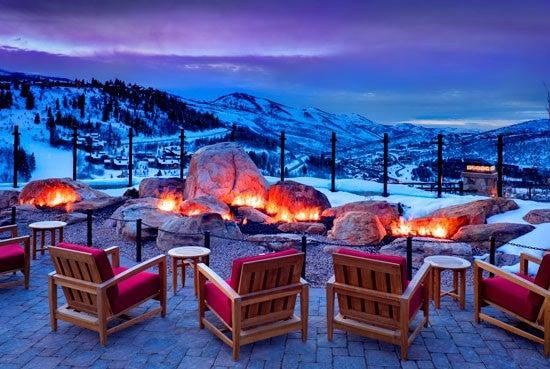 A Patio At The St Regis Overlooking Deer Valley Perfect Place For Fireside Tail