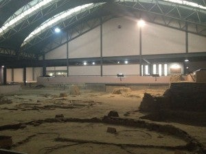 The foundations of houses in the Banpo Village Museum. It was freezing in there!