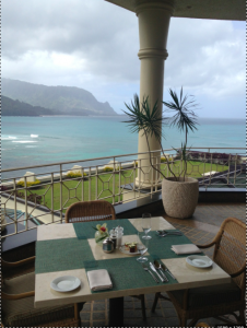 We had brunch with a view at this terrace table.