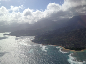Looking down the coast from Hanalei.