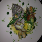 John Dory and clams at Pichet.