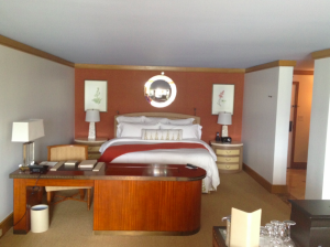 The separate king bedroom in my Prince Junior Suite.