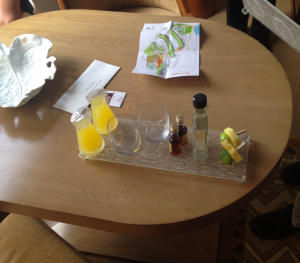 My SPG Platinum mai tai welcome amenity. Let's get this vacation started!